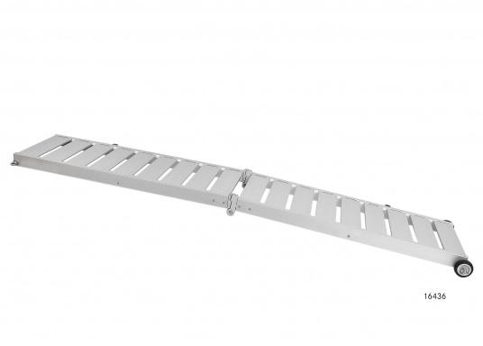 Questa passerella in alluminio non è solo bella, ma anche estremamente innovativa e pratica.