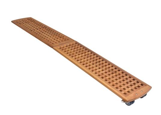 Diese Holz-Gangway ist nicht nur schön, sondern auch außerordentlich innovativ und praktisch.  (Bild 3 von 6)