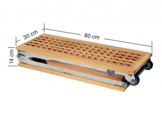 Diese Holz-Gangway ist nicht nur schön, sondern auch außerordentlich innovativ und praktisch.  (Bild 2 von 10)