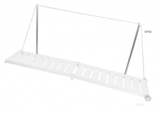 Handlauf für Gangways bestehend aus zwei Aluminium Stützen mit Kunstoff Kopf und einem Seil. (Bild 2 von 4)