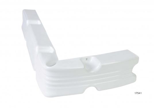 Ideale Fender für Anlege- und Schwimmstege in Weiß. Gewinkelte Ausführung, für das Abpolstern von Ecken.