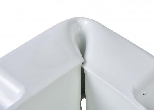 Ideale Fender für Anlege- und Schwimmstege in Weiß. Gewinkelte Ausführung, für das Abpolstern von Ecken.  (Bild 5 von 6)