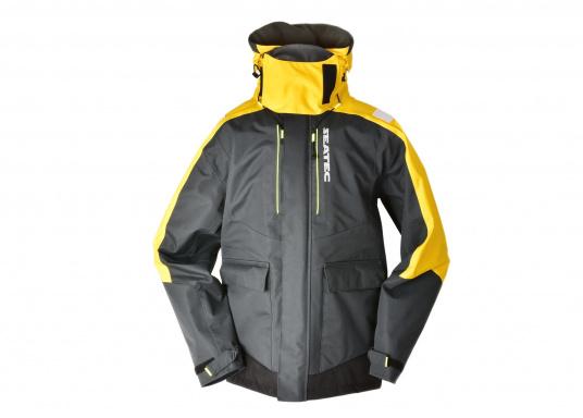 Hochfunktionale, strapazierfähige und komfortable Wetter- und Wassersportbekleidung, zu 100% wasser- und winddicht und besonders atmungsaktiv. Einsatzgebiet: Ideal für den Offshore-Einsatz geeignet.