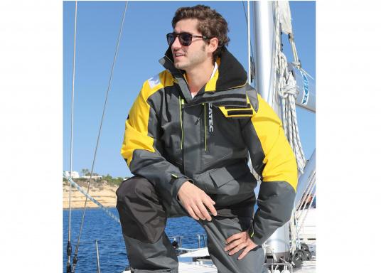 Hochfunktionale, strapazierfähige und komfortable Wetter- und Wassersportbekleidung, zu 100% wasser- und winddicht und besonders atmungsaktiv. Einsatzgebiet: Ideal für den Offshore-Einsatz geeignet.  (Bild 8 von 13)