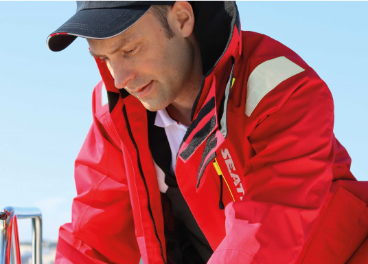 Hochfunktionale, strapazierfähige und komfortable Wetter- und Wassersportbekleidung, zu 100% wasser- und winddicht und besonders atmungsaktiv. Einsatzgebiet: Ideal für den Offshore-Einsatz geeignet.  (Bild 9 von 14)
