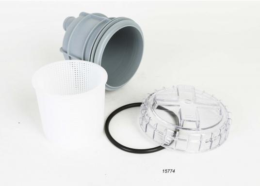 Diese Seewasserfilter sind ideal zur Reinigung des Seewassers bei Ein-Kreis- und Zwei-Kreis-Kühlsystemen geeignet. Erhältlich in verschiedenen Ausführungen. ACHTUNG: Es handelt sich NICHT um Originalteile der Motorenhersteller!  (Bild 3 von 7)