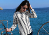 ANTIBES Breton Women's Shirt / white/navy