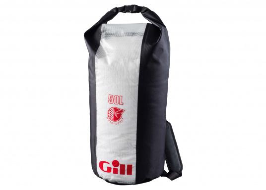 Der 50 L Packsack von Gill hält Ihre Ausrüstung trocken - egal ob auf dem Segelboot oder auf der Yacht. Er verfügt über einen abnehmbaren, gepolsterten Schultergurt.