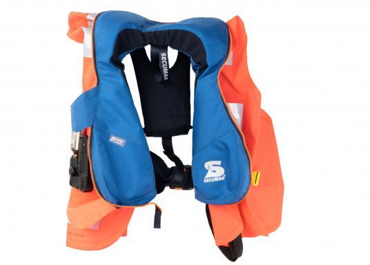 Kleiner im Schnitt, aber gleichwertig in Sachen Sicherheit - auch beim Schwimmkörper der Rettungsweste für größere Kinder kommt die im Erwachsenenbereich bewährte DUO-Protect-Technik zum Einsatz.  (Bild 5 von 5)