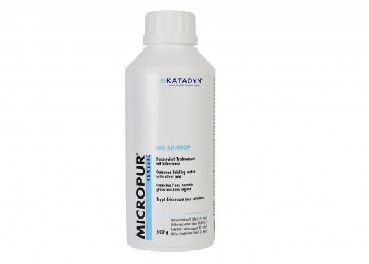 Einfach und sicher! Micropur Classic inaktiviert Bakterien in Wassertanks und -behältern und hält Wasser auf umweltfreundliche Weise frei von Keimen, Algen und Gerüchen. Konserviert Wasser mittels Silberionen bis zu 6 Monaten.