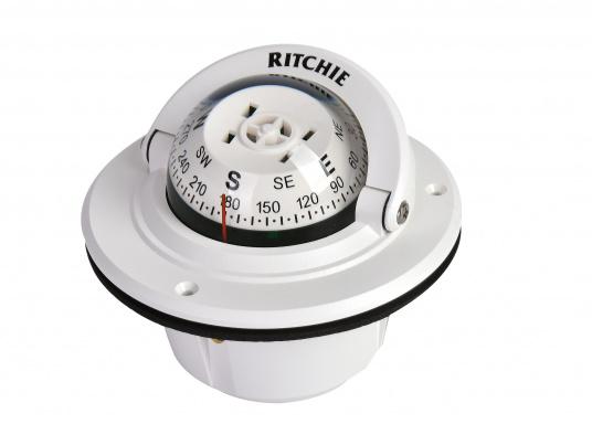 """Originaler BAVARIA Kompass """"F-50W"""" von RITCHIE. Farbe: weiß."""