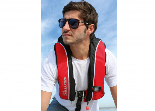 Safety and comfort at an affordable price! This comfortable life jacket X-PRO 180 by SEATEC offers high wearing comfort, even when worn with heavy work clothing and maximum safety.