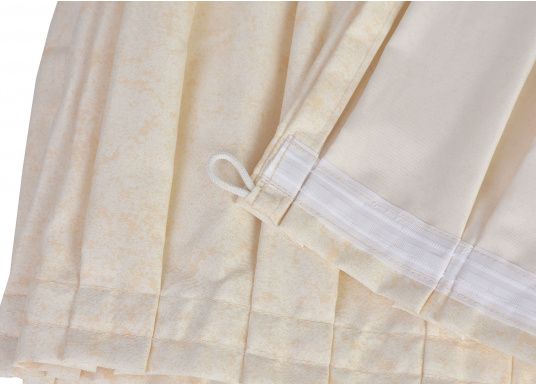 Originaler Vorhang BELLA für Ihre Yacht von BAVARIA. Erhältlich in unterschiedlichen Ausführungen:    46 x 29 cm  62 x 29 cm  75 x 25cm  75 x 29cm  75 x 36 cm   (Bild 5 von 5)