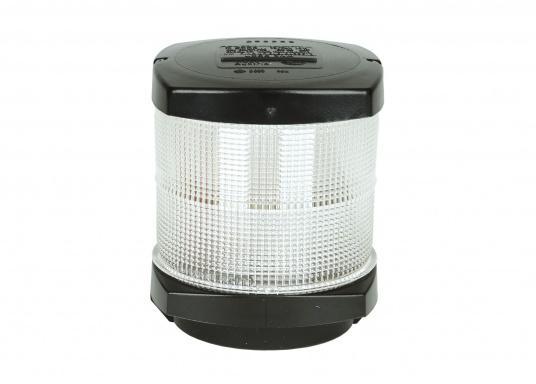 Original BavariaVollkreislaternefür Segelyachten bis 20 m Länge geeignet. Komplett mit Long-Life 12-V/10-W-Glühlampe ausgerüstet. Gehäusefarbe: schwarz. Lichtfarbe: weiß.