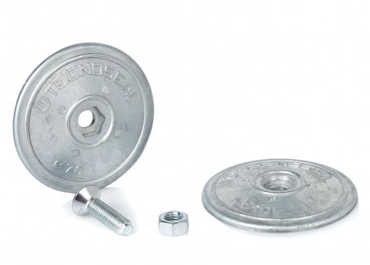 Originale Zinkanode von Bavaria in runder Bauform.Der Außendurchmesser beträgt 70 mm. Höhe: 10 mm. Lochdurchmesser: 8 mm.  (Bild 3 von 3)
