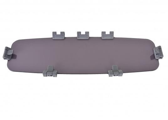 Originale Ersatzscheibe für das Decksaufbaufenster Ihrer Yacht von BAVARIA. Die Abmessungen der Ersatzscheibe betragen (ohne Griffe) 635 x 185 mm. Farbe: rauchgrau.  (Bild 2 von 3)