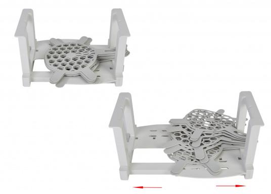 OriginalTeller und Tassenhalter-Set für Ihre BAVARIA Yacht. Farbe: weiß / grau.  (Bild 2 von 3)