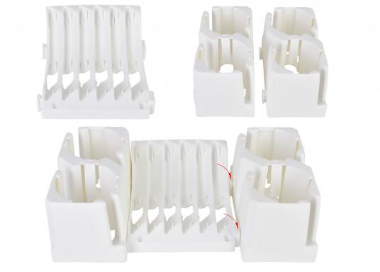 OriginalTeller und Tassenhalter-Set für Ihre BAVARIA Yacht. Farbe: weiß / grau.  (Bild 3 von 3)