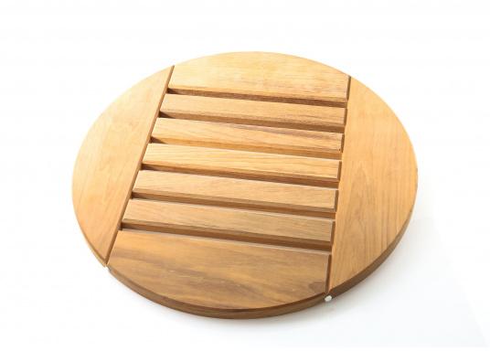 Original BAVARIA Duschrost aus Teak mit einemDurchmesser von 46 cm.  (Bild 2 von 2)