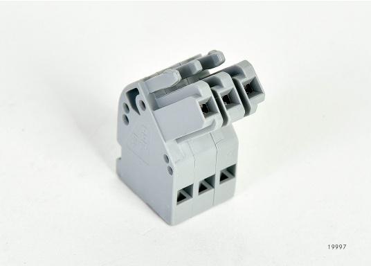 Originale BAVARIA 3-polige Verbindungsklemme in abgewinkelter Ausführung passend für Ihr Panel 302 und 306.  (Bild 2 von 3)