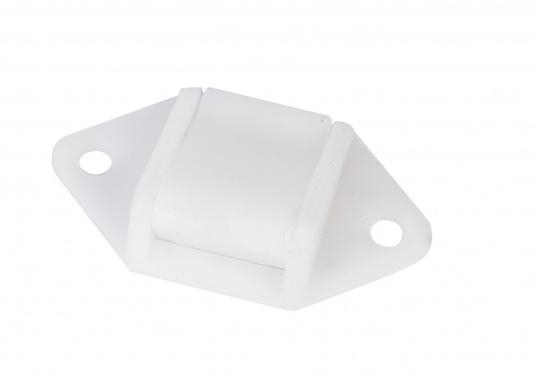 Original Ersatzschnalle zur Befestigung der Sonnenpolster für Ihre BAVARIA Yacht. Farbe: weiß.