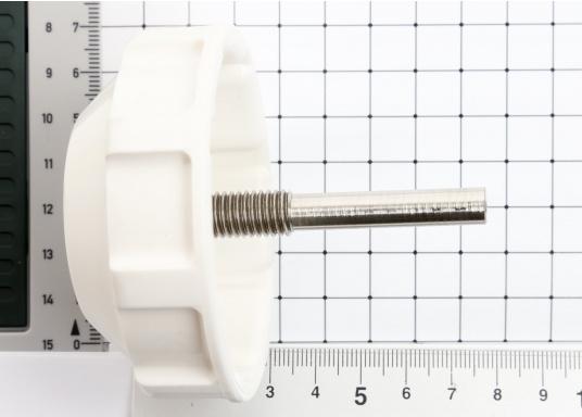 Originale weiße Steuerradbremsefür Ihre BAVARIA Yacht. Der aus Kunststoff bestehendeBremsknebel ist passend für die Lewmar Commodore und das faltbareSteuerrad.  (Bild 3 von 3)