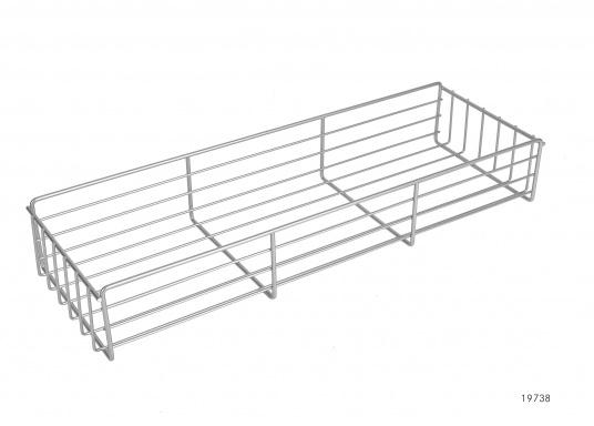 Originaler Drahtkorbeinsatz für die Kühlbox Ihrer Yacht von BAVARIA. Abmessungen: 480x 160 x 75 mm.