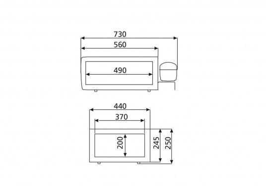 Ausziehbares, kugelgelagertes Einbau-Kühlschubfach CD30 mit stufenlosem Thermostat. Nutzinhalt: 30 Liter.  (Bild 3 von 3)