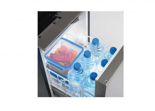 Drawer fridge CRD 50 - stainless steel look with a net capacity of approximately 50 liters and a freezer with a capacity of 4 liters. (Image 3 of 7)