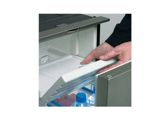 Drawer fridge CRD 50 - stainless steel look with a net capacity of approximately 50 liters and a freezer with a capacity of 4 liters. (Image 4 of 7)