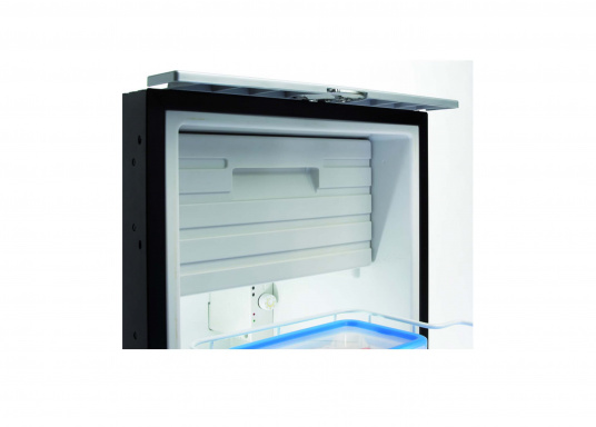 Drawer fridge CRD 50 - stainless steel look with a net capacity of approximately 50 liters and a freezer with a capacity of 4 liters. (Image 5 of 7)