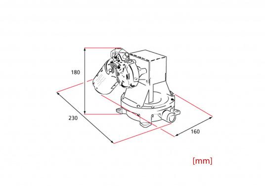 """Elektrische, selbstansaugende Duschwasserpumpe. Membranpumpe mit 1"""" (25 mm) Schlauchanschlüssen, die groß genug sind, um nicht von kleinen Feststoffteilchen zu verstopfen.  (Bild 4 von 4)"""