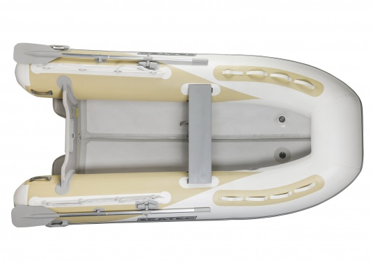 The new SEATEC AEROTEND 310 yacht tender combines all the advantages of slatted bottom boats and rigid inflatable boats in to one: a stable hull, very good handling characteristics, low weight and high load capacity.