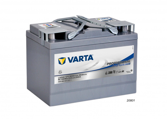 These powerful Deep Cycle AGM batteries have been specially developed for the latest boats with electric motor, yachts and caravans and use AGM technology (Absorbent Glass Mat). (Image 2 of 8)