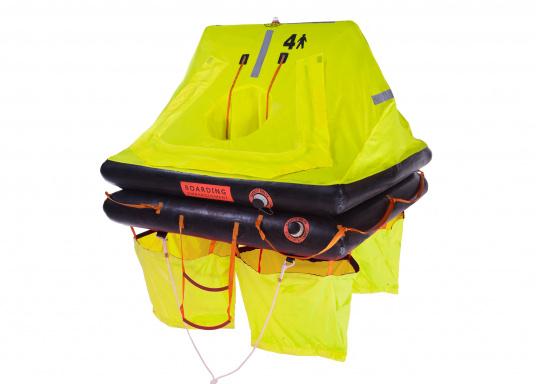 Die SEATEC Rettungsinseln wurden speziell für Offshore-Einsätze entwickelt und in Anlehnung an die Norm ISO 9650 (internationale Norm für die Entwicklung von Rettungsinseln) gefertigt.  (Bild 2 von 10)