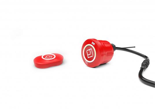 Mit diesem innovativen und kabellosen WIMEA Sicherheits-Schalter wird Ihre Sicherheit an Bord garantiert, denn dank der revolutionären Wireless-Technologie wird Ihr Motor bei einer MOB-Situation abgestellt.
