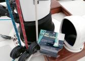 Ruban adhésif pour pied de mât / 100 mm x 1,5 m / blanc