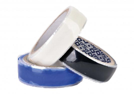 Silikon Notfall-Tape zum Abdichten von Rohren und Schläuchen auch unter extremen Bedingungen, z.B. einsetzbar von -50 °C bis +100°C, sowie für Unterwasserreparaturen. Es ist öl-, druck-, salzwasser und UV-beständig. Breite: 25 mm. Rollenlänge: 3 m.  (Bild 3 von 3)