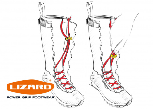 Der patentierte SPIN BOOT von LIZARD ist ein 100% wasserdichter Segelstiefel, hoch atmungsaktiv, extrem bequem, absolut rutschsicher und dabei enorm leicht.  (Bild 13 von 13)