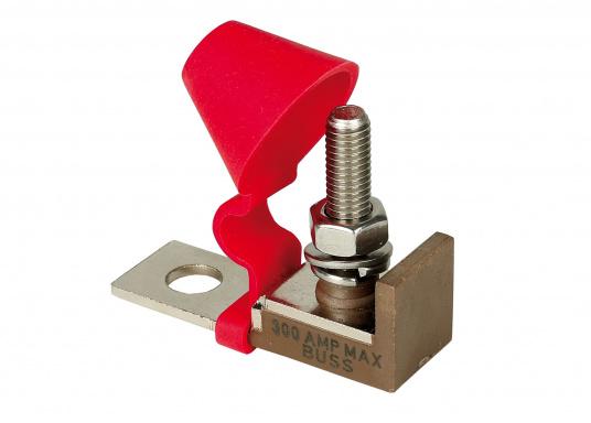 Ce porte- fusible est pensé pour utilisation sur la borne à l'aide d'un écrou isolé, pour économiser de l'espace.