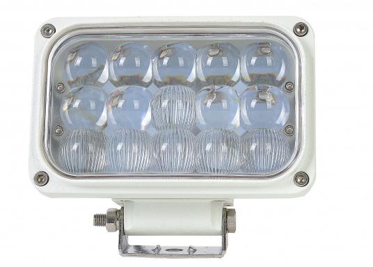 Dieser äußerst robuste, langlebige 45 W LED Deckscheinwerfer besticht mit einer Lichtleistung von 4050 Lumen, Lichtfarbe: 4200 Kelvin. (Bild 2 von 5)
