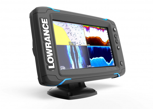 The Lowrance® Elite-7Ti is a touchscreen fishfinder/chartplotter that matches high-end functions and features with powerful performance ─ all at an affordable price.  (Image 2 of 10)