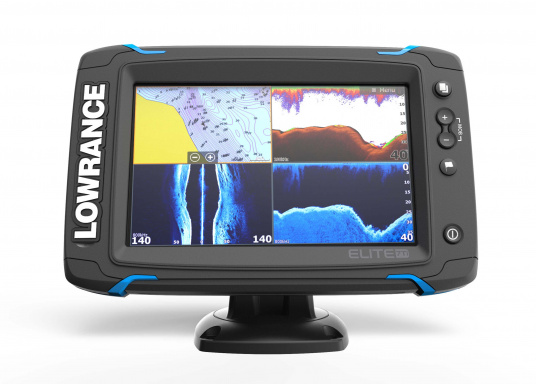 The Lowrance® Elite-7Ti is a touchscreen fishfinder/chartplotter that matches high-end functions and features with powerful performance ─ all at an affordable price.  (Image 3 of 10)