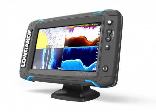 The Lowrance® Elite-7Ti is a touchscreen fishfinder/chartplotter that matches high-end functions and features with powerful performance ─ all at an affordable price.  (Image 4 of 10)