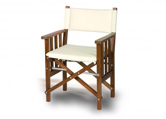fauteuil metteur en scne pliant en teck crme - Fauteuil Metteur En Scene