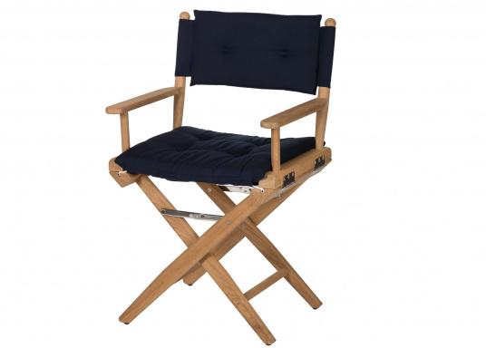 Arc sedia pieghevole da regista in teak blu navy solo 329 95 u20ac svb