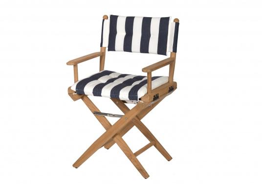Arc sedia pieghevole da regista in teak blu e bianca solo 329 95