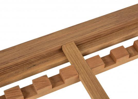 Do it yourself! Gräting-Profile aus hochwertigem Teak-Holz zum selber zusammen bauen. Jeweils einzelne Komponenten sind stückweise erhältlich. Länge jeweils 122 cm. (Bild 2 von 5)