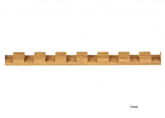 Do it yourself! Gräting-Profile aus hochwertigem Teak-Holz zum selber zusammen bauen. Jeweils einzelne Komponenten sind stückweise erhältlich. Länge jeweils 122 cm. (Bild 5 von 5)