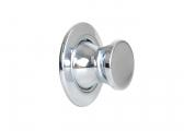 Push Lock / chrome, round